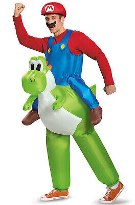 Brand New Nintendo Super Mario Brothers Mario Riding Yoshi Adult Costume