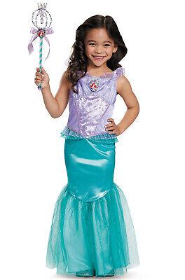 Brand New Disney Princess Little Mermaid Ariel Deluxe Child Costume