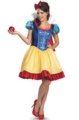Brand New Disney Princess Snow White Sassy Deluxe Adult Costume](Disney Princess Costume Adult)