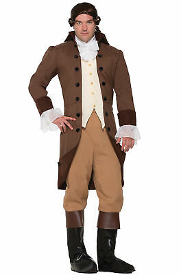 Colonial Gentleman Costume 5Pc Br Coat/Vest Knickers Jabot Boot Tops Costume Md](Costume Knickers)