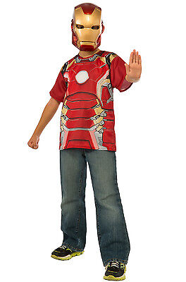 Avengers 2 Age of Ultron Child's Iron Man Mark 43 T-Shirt Mask  (Kids Ironman Costumes)