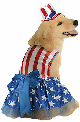 Patriotic Pooch 4th Of July USA Amercian Dog Pet Costume Clothes X Large NEW