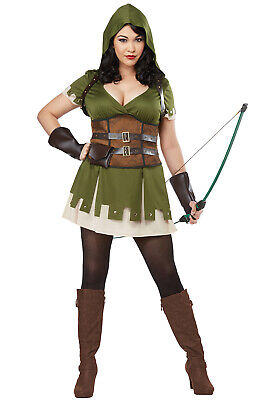 Brand New Lady Robin Hood Medieval Plus Size Costume ()