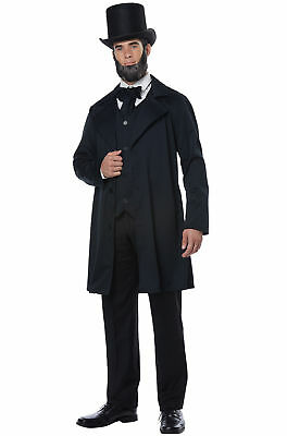 Abraham Lincoln Andrew Jackson Historical Presidents Adult Men's Costume XS-XL