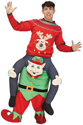 Carry Me Elf Santa Workshop Helper Adult Costume