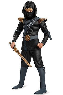 SHADOW NINJAS NIGHT FURY BLACK NINJA CHILD HALLOWEEN COSTUME SIZE MEDIUM 8-10  (Furies Halloween Costume)