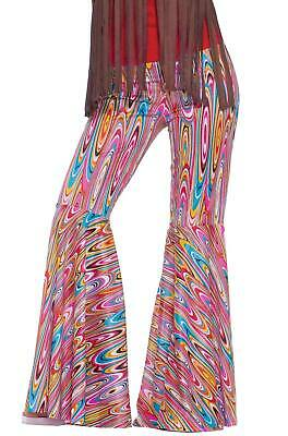 Brand New 1970's Disco Hippie Wild Swirl Bell Bottoms Adult Costume