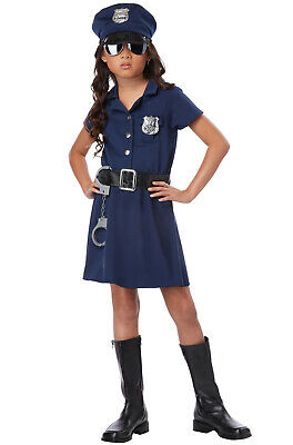 Girl Police Costume (Brand New Police Officer Girl Patrol Cop Dress Child)