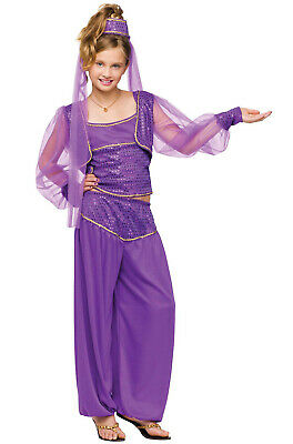 Brand New Dreamy Genie Aladdin Girls Child Halloween Costume - Genie Child Costume
