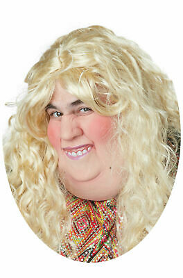 Catfish Double Chin Fat Woman Funny Half Mask Adult Halloween Costume Accessory](Double Halloween Costumes Funny)