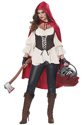 Brand New Ain't Afraid a No Wolf Little Red Riding Hood Adult - Little Red Riding Wolf Kostüm