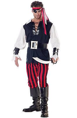 Adult Men Cutthroat Pirate Buccaneer Halloween Costume - Male Pirate Halloween Costumes