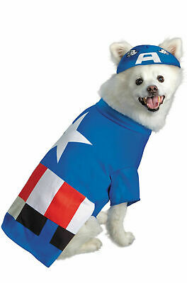 Captain America Pet Costume (Marvel Superhero Captain America Pet Dog Costume)