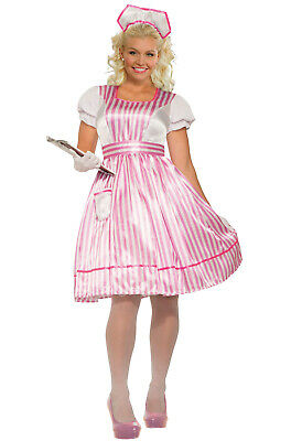 Brand New Candy Striper Nurse Plus Size Costume - Plus Size Nurse Costumes