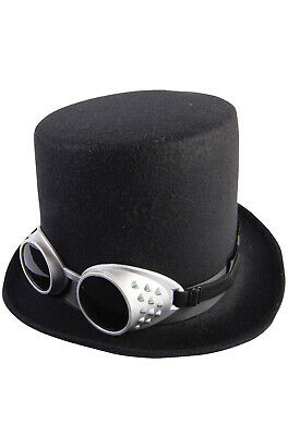 Brand New Steampunk Top Hat and Goggles - Top Hat And Goggles