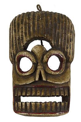 Mask Citipati Tête de Death Wood Painted - Himalayas-Ceremonial Shaman - 5311