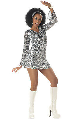 Sexy Women 70's Retro Groovy Disco Diva Halloween Costume - 70's Womens Halloween Costume