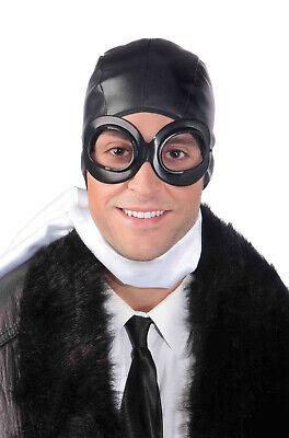 Brand New Vintage Pilot Aviator Helmet and Goggles Costume - Kostüm Aviator Goggles