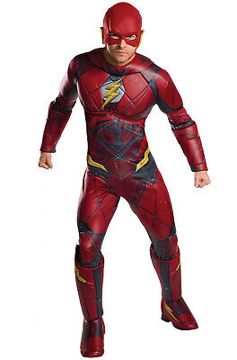 Justice League Movie Deluxe The Flash Adult Costume](Cheap Movie Costumes)