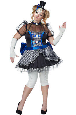 Brand New Twisted Baby Doll Horror Plus Size Costume - Baby Doll Dress Costume