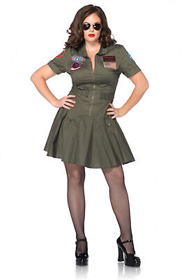 Topgun Outfit (Sexy Adult Top Gun� Flight Dress Outfit Women Plus Size Adult)