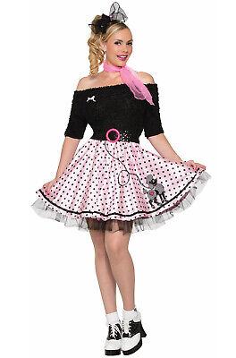 1950's Polka Dot Poodle Skirt Adult Costume](Polka Dot Poodle Skirt)