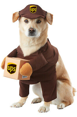 UPS Delivery Driver Uniform Pal Pet Dog Costume](Delivery Costume)