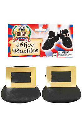 Brand New Colonial Shoe Buckles Costume Accessory (Gold) - Colonial Shoe Buckles