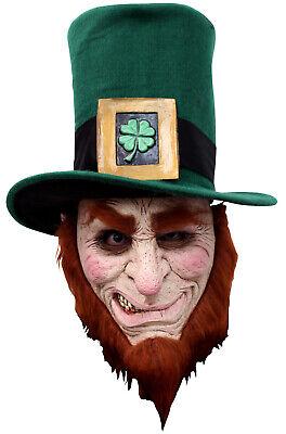 Brand New Irish Goblin Scary Leprechaun  Saint Patrick Adult Mask](Scary Leprechaun)