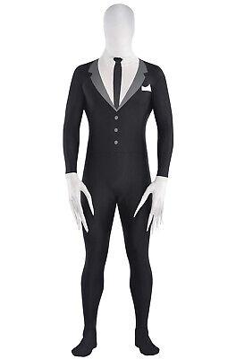 Creepy Pasta Slender-Man Partysuit Teen Costume (Small)](Slenderman Costume)