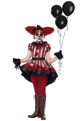 Creepy Girls Halloween Costumes (Brand New Wicked Klown Creepy Clown Child Halloween)