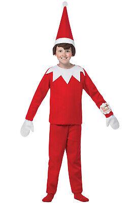 Brand New Santa Elf On A Shelf Christmas Child Costume (7-10)](Child Elf Costume)