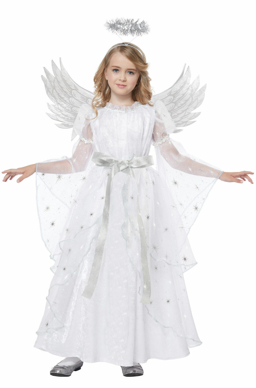 RUBIES HEAVENLY ANGEL COSTUME HALO WINGS SIZE INFANT BABY 1-9 mo MONTH HALLOWEEN
