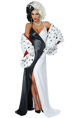 Dalmation Costumes Adults (Brand New Cruella Diva 101 Dalmations Women Adult)