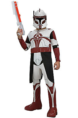 Brand New Star Wars Clone Wars Clone Trooper Commander Fox Child - Commander Fox Costume
