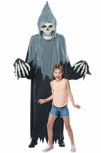 TOWERING TERROR 8FT GRIM REAPER SKELETON ADULT COSTUME OR DECORATION