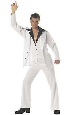 Retro Disco Men Saturday Night Fever Adult Halloween Costume - Saturday Night Fever Costume