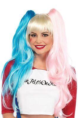 Brand New Misfit Hipster Harlequinn Suicide Squad Costume Wig