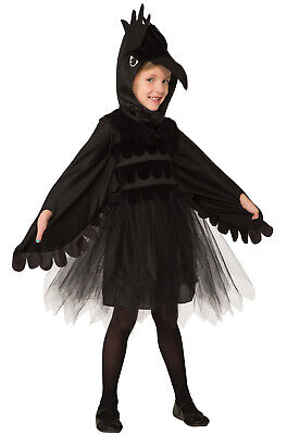 Raven Bird Dress Child Costume (Medium)