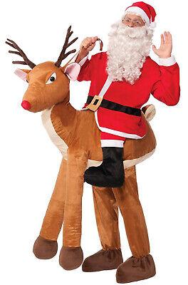 Brand New Santa Ride-A-Reindeer Christmas Adult Costume - Make Reindeer Costume