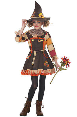 Brand New Patchwork Scarecrow Girl Child Halloween Costume](Girl Scarecrow Costumes)