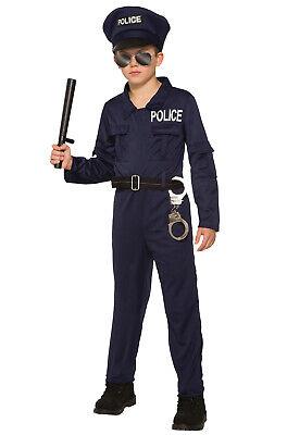 Police Jumpsuit Child Costume (Small)](Kid Police Costume)
