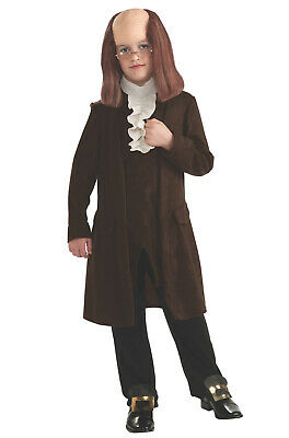Benjamin Franklin Halloween Costume (Brand New Benjamin Franklin Deluxe Child Halloween)