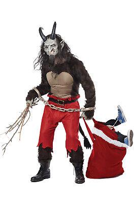 Brand New Krampus the Christmas Demon Horns Devil Men Adult Costume