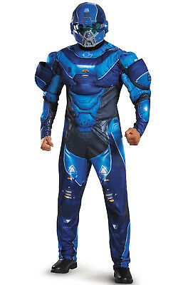 Halo Blue Spartan Muscle Adult Costume ()