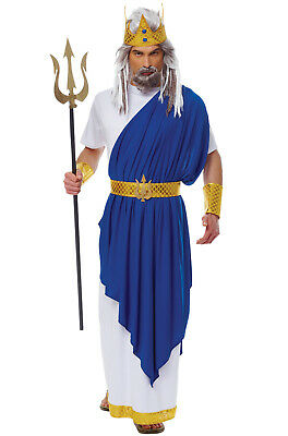 Greek God Poseidon Neptune Men Adult Costume - Greek God Costumes Men