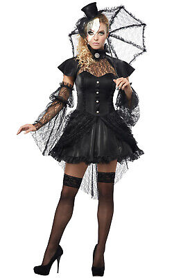 Brand New Sexy Mardi Gras Victorian Doll Dress Burlesque Adult Halloween Costume