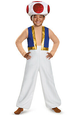 Brand New Super Mario Brothers Toad Deluxe Child Costume - Baby Toad Costume