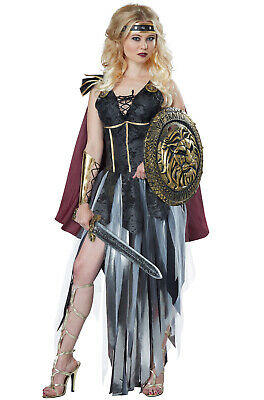 Brand New Glamorous Roman Gladiator Spartan Warrior Women Adult Costume