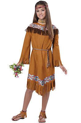 Pocahontas Girl Costume (Brand New Classic Indian Girl Pocahontas Native American Child)